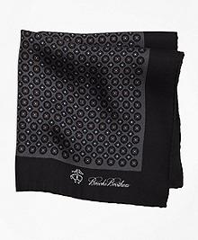 Circle Foulard and Diamond Foulard Pocket Square