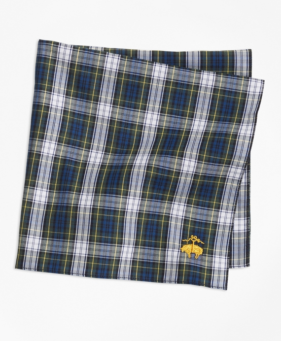 Dress Gordon Tartan Pocket Square Navy-Multi