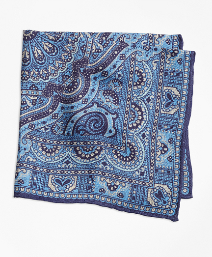 Double-Sided Paisley Pocket Square