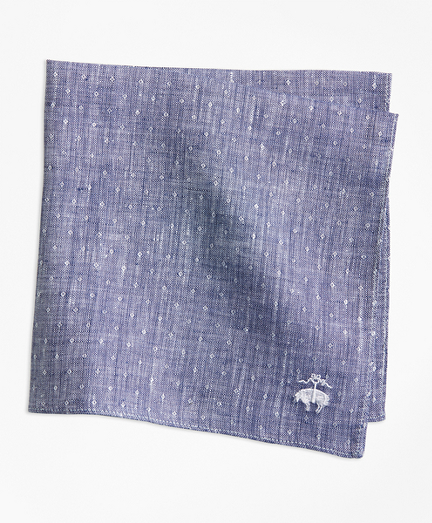 Dot Irish Linen Pocket Square
