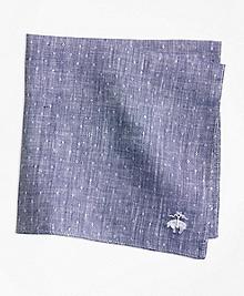 Dot Irish Linen Pocket Square