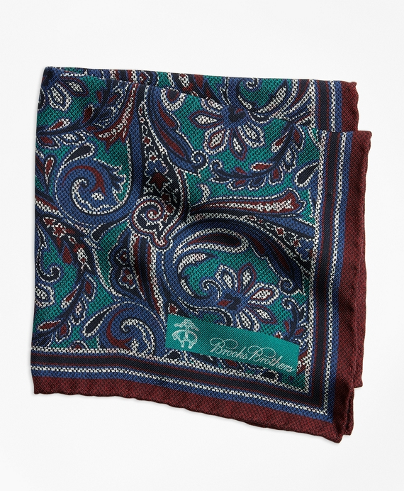 Paisley and Dot Pocket Square