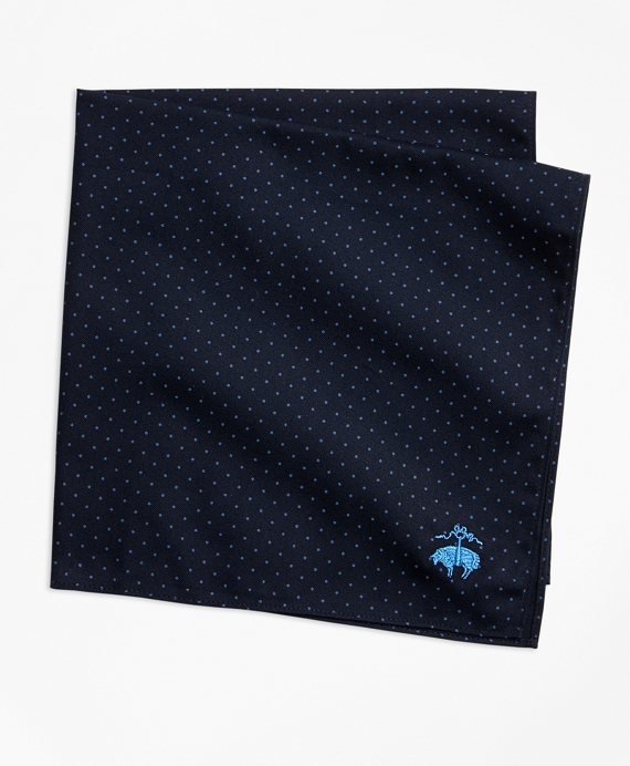 Mini-Polka Dot Pocket Square Navy