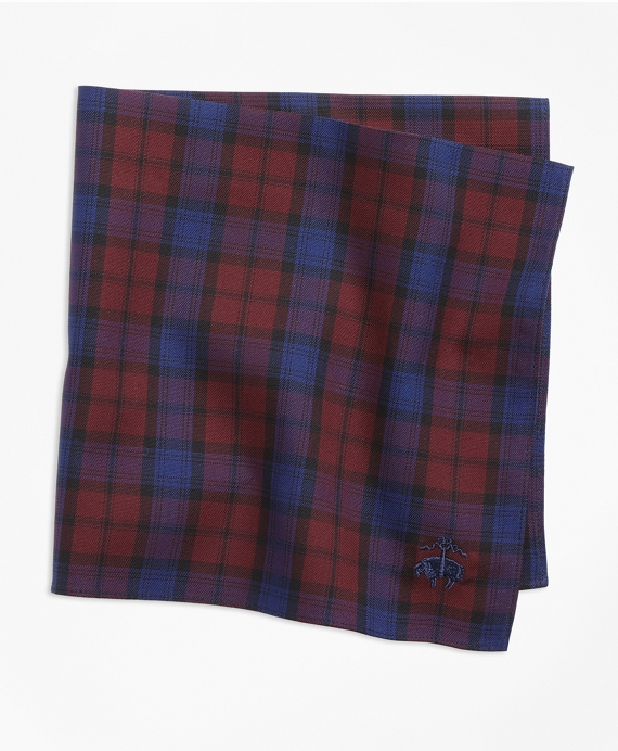 Tartan Pocket Square Red-Blue