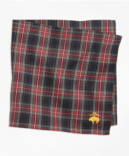 Black Stewart Tartan Pocket Square
