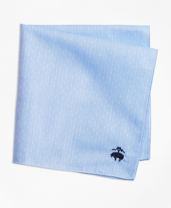 Diamond Dobby Pocket Square Blue