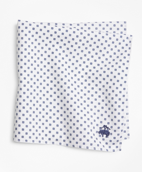 Mini-Foulard Pocket Square White