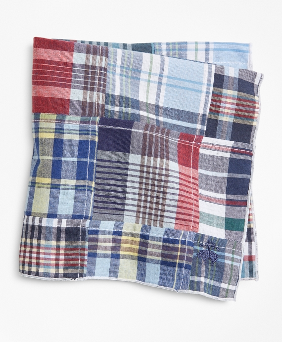 Patchwork Madras Pocket Square