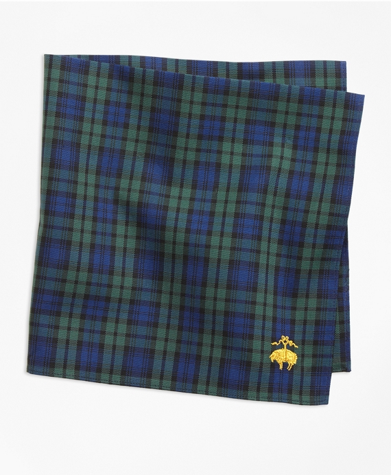Black Watch Pocket Square Navy-Green
