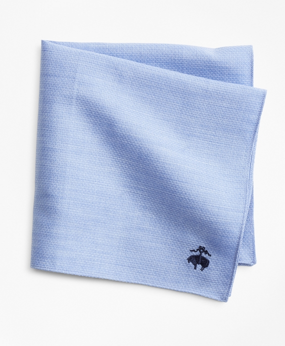 Cotton Dobby Pocket Square Blue