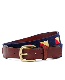 Brooks Flag Needlepoint Belt