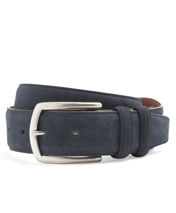 Edge Painted Suede Belt Navy-Green
