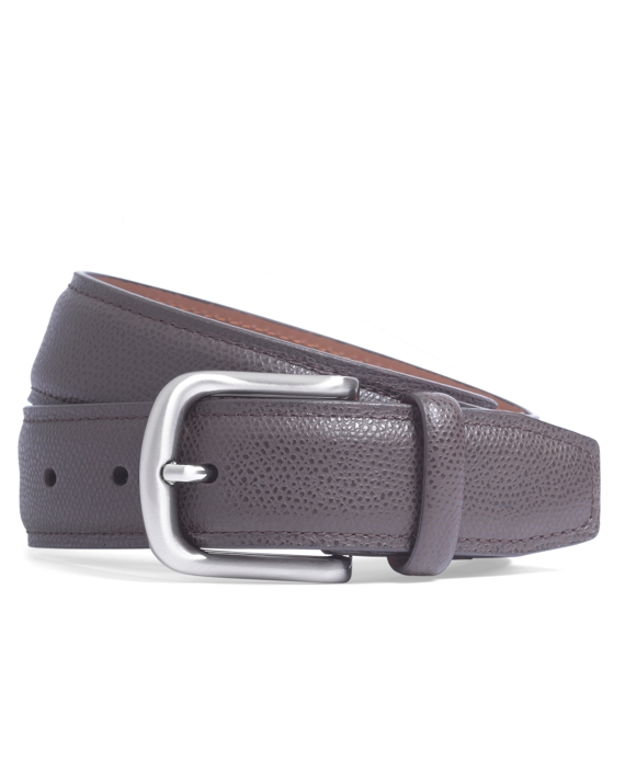Pebble Leather Belt Dark Brown