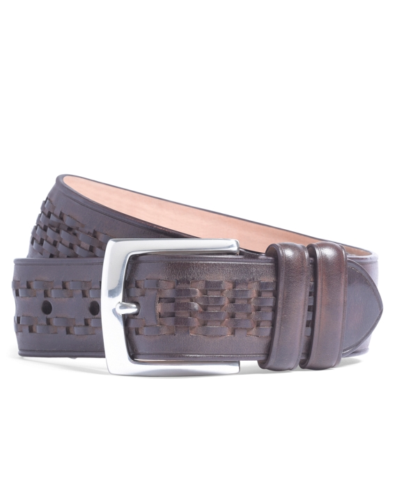 Woven Center Belt Brown