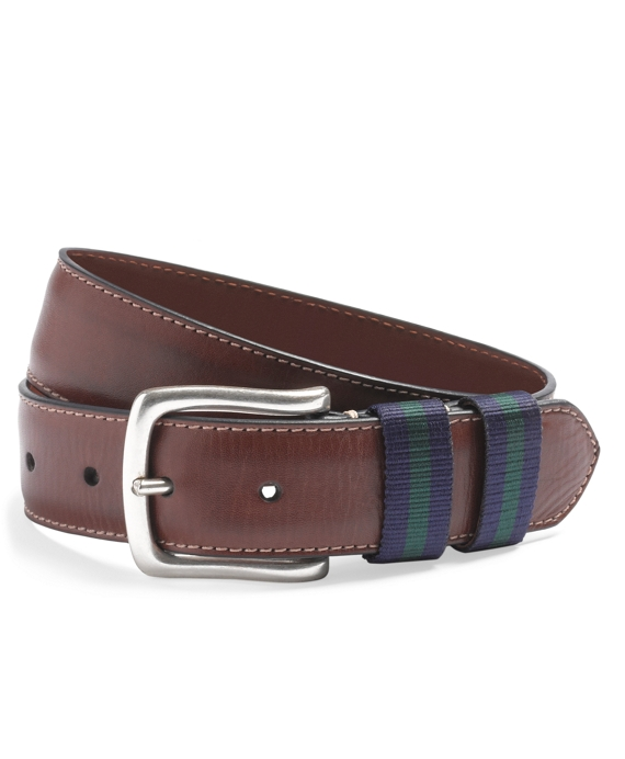 Chino Belt with Grosgrain Keepers Brown