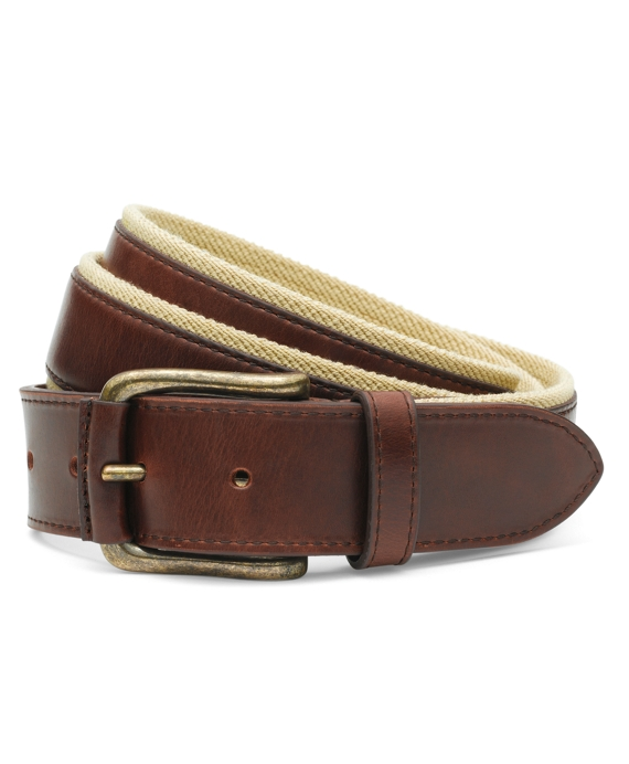 Leather Boat Shoe Belt Brown