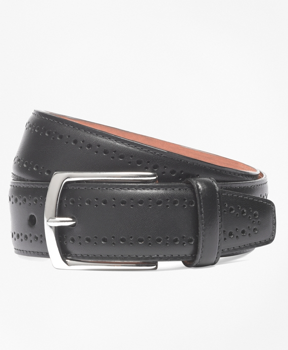 Allen Edmonds Perforated Belt Black