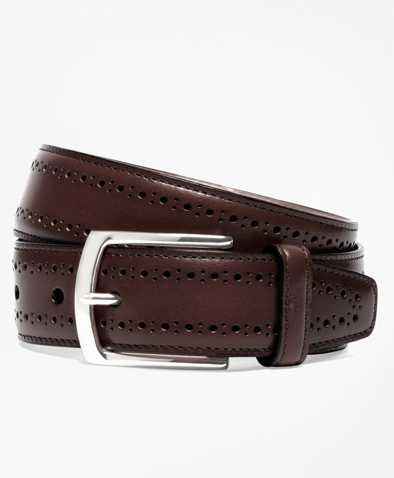 Allen Edmonds Perforated Belt Brown