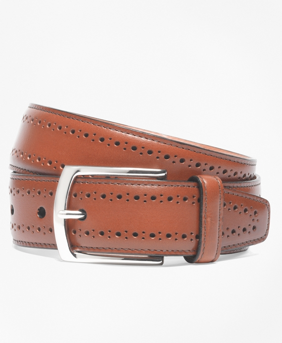 Allen Edmonds Perforated Belt Walnut