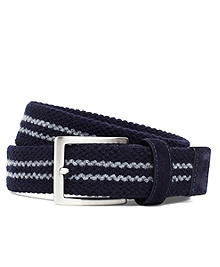 Wool Double-Stripe Woven Belt