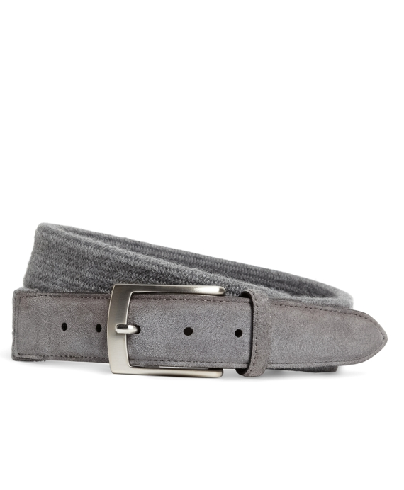 Wool Woven Belt Charcoal