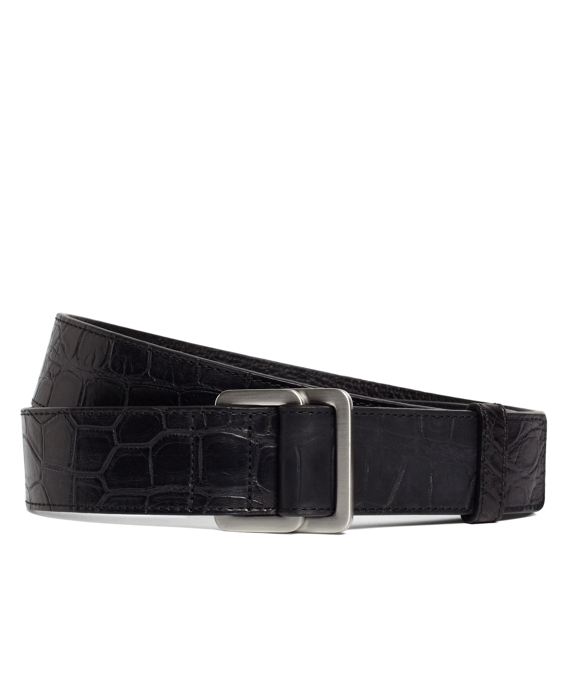 Alligator Square Ring Belt Black