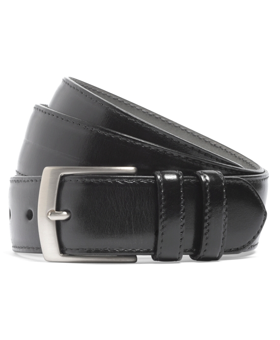 Perforated Leather Belt Black