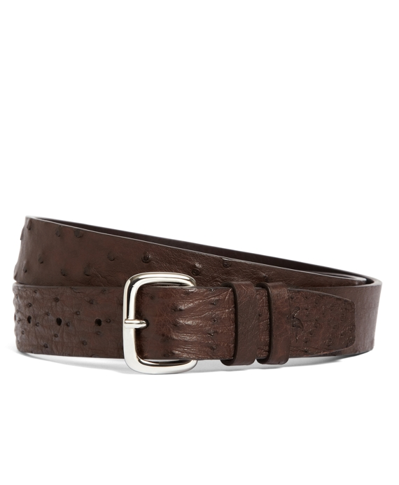 Harrys Of London® Ostrich Belt Brown