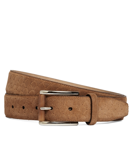 Suede Woven Dress Belt Taupe