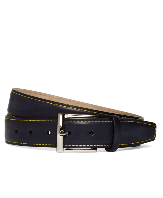 Contrasting Stitch Belt Blue-Yellow