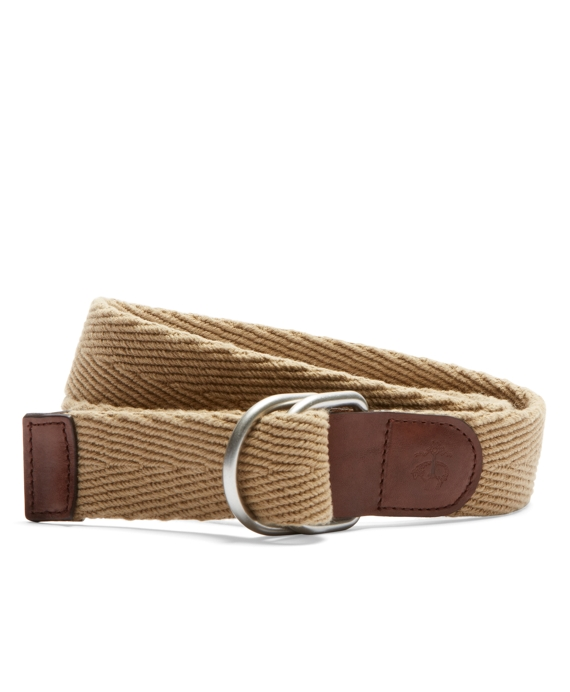 Solid Webbing Belt with Embossed Golden Fleece® Khaki