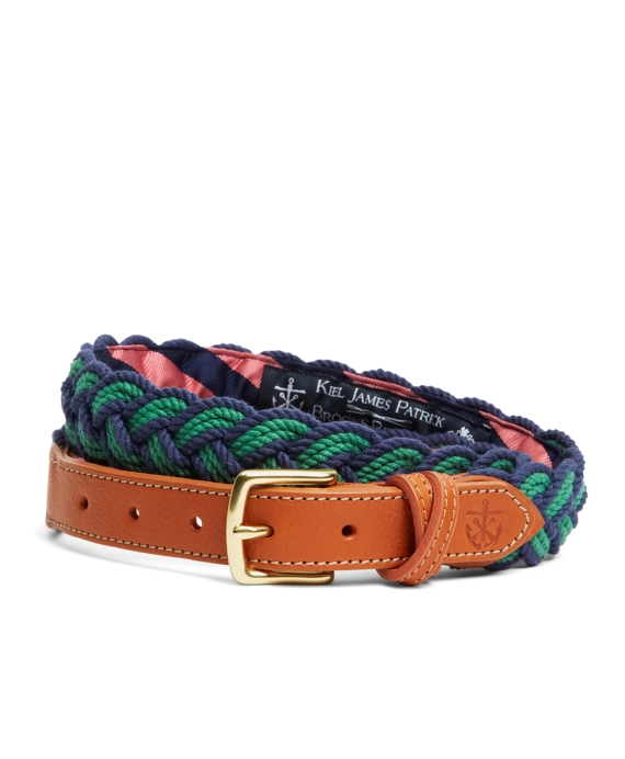 Kiel James Patrick BB#4 Braided Belt Navy-Green