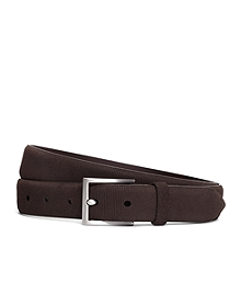 Micro Stripe Calfskin Suede Leather Belt