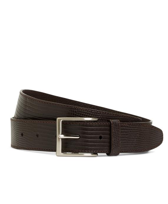 Matte Lizard Leather Belt