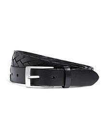 Flat Braided Leather Belt
