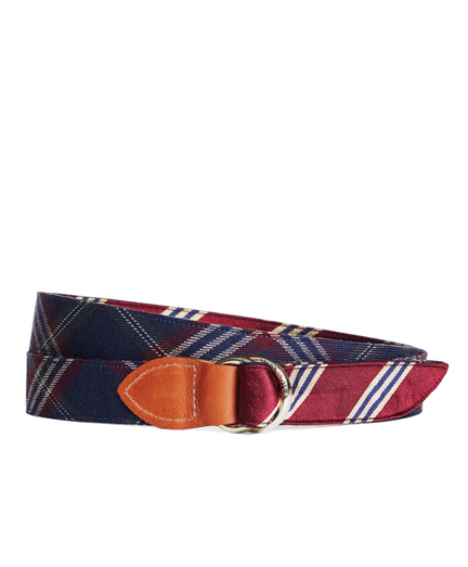 Kiel James Patrick BB#1 Stripe and Signature Tartan Belt