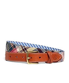 Kiel James Patrick Patchwork Madras Belt