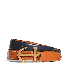 Kiel James Patrick Leather Anchor Buckle Belt