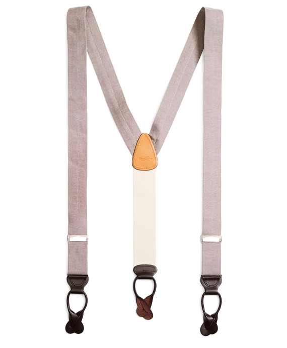 Chambray Suspenders Khaki