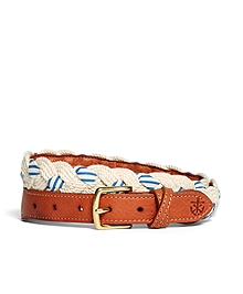Kiel James Patrick Braided Stripe Belt