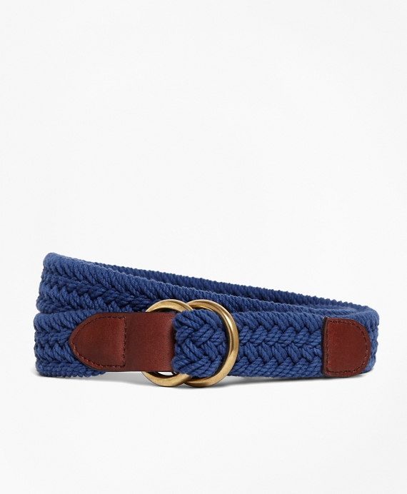 Cotton Braided Belt Blue