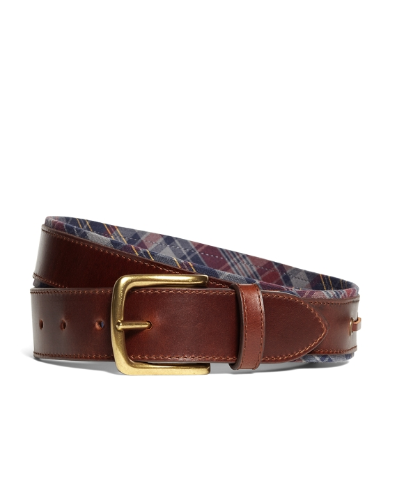 Fall Madras Boat Belt Navy-Grey