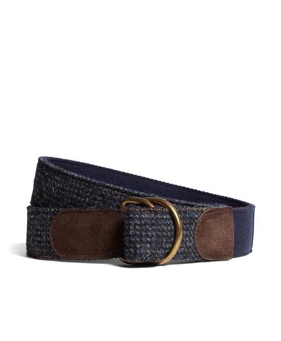 Harris Tweed  D-Ring Belt Blue