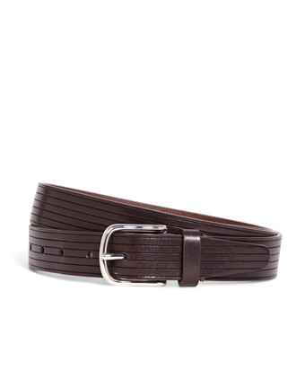 Embossed Stripe Belt
