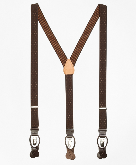 Polka Dot Suspenders Brown