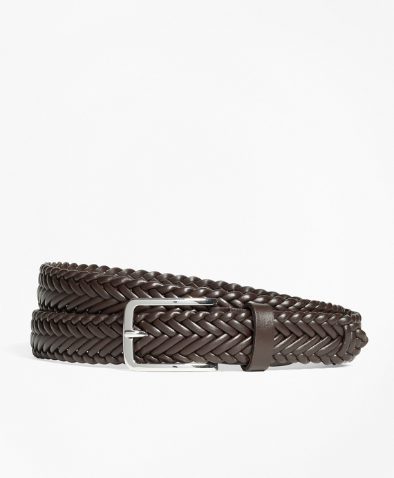 Soft Braided Belt Brown