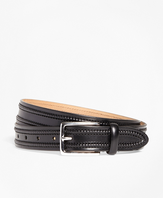 Moccasin Stitch Belt Black