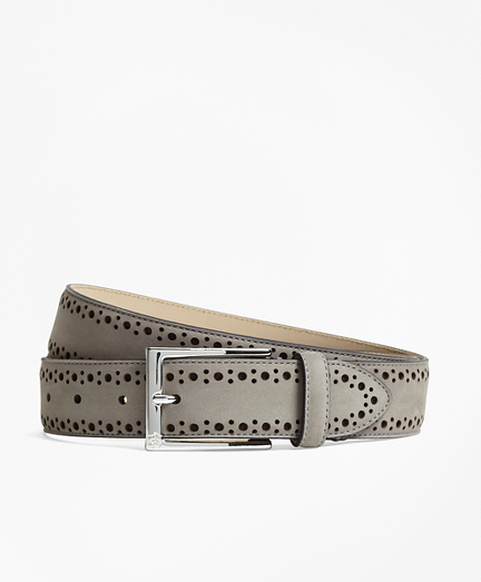 1818 Perforated Stitch Suede Belt