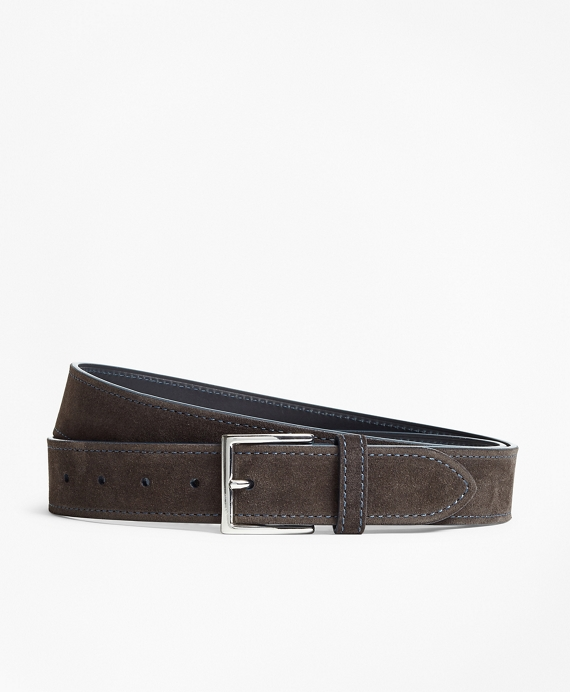 Suede Stitch Belt Brown