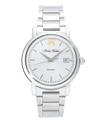 Round Watch with Stainless Steel Band